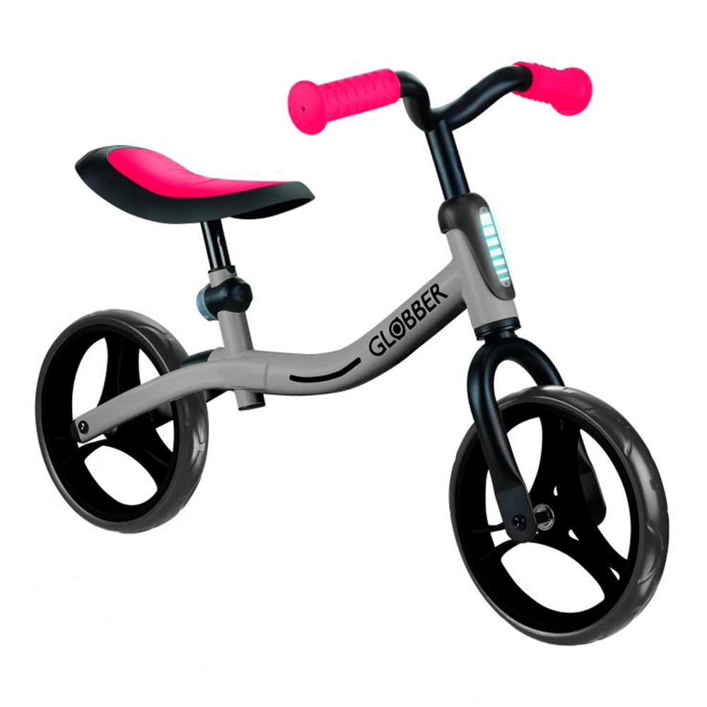 Уцінка! Біговел Globber Go bike Сріблясто-червоний до 20 кг (610-192)