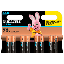 Аккумуляторы и батарейки - Батарейки щелочные Duracell Ultra Power АА 1.5V LR6 8 шт (5000394063051b)