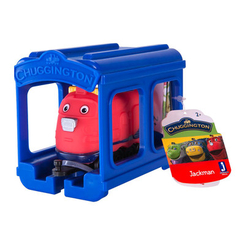Железные дороги и поезда - Паровозик Jazwares Chuggington Джекман с гаражом (JW10566/38620/10588)