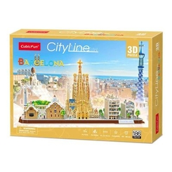 Пазли - Конструктор 3D Cubic Fun City line Barcelona (MC256h)
