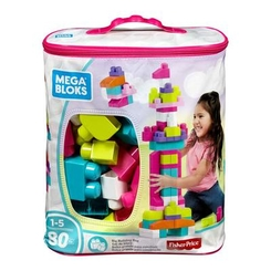 Блокові конструктори - Конструктор Fisher-Price Mega Bloks рожевий 80 деталей (DCH62)