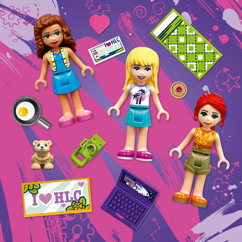 В набор входят мини-куколки Оливии, Мии и Стефани
