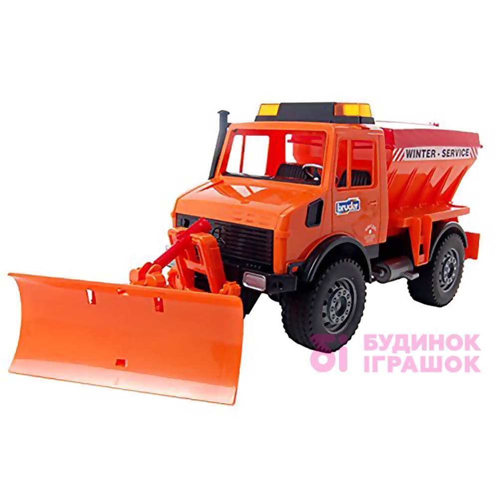 Купить Машинки, модели техники, Игрушка снегоуборочный автомобиль MB Unimog Bruder (02572)
