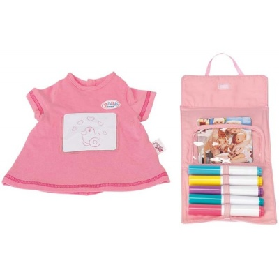 9b50af84cf3fba Одяг та аксесуари для пупсів - Набір одягу для ляльки Малювання Baby Born  43см з аксесуарами