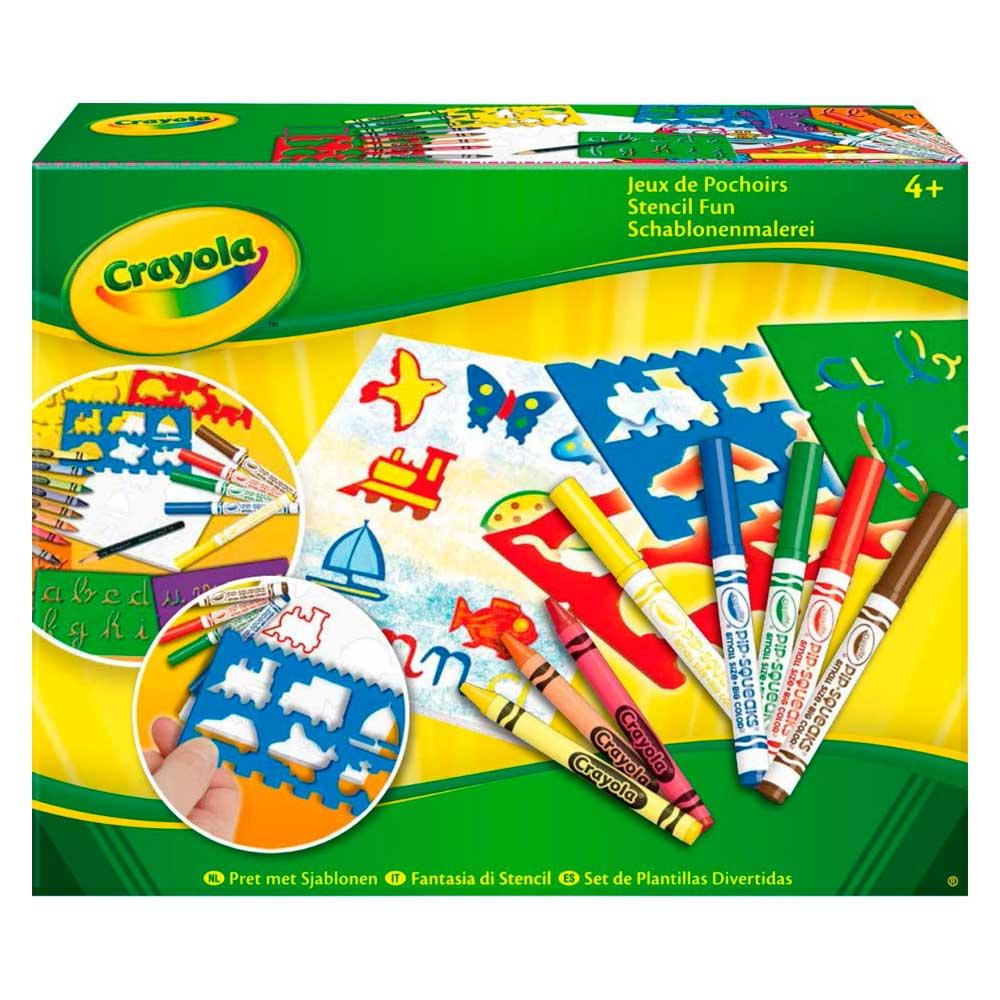 Купить Наборы для творчества и рукоделия, Набор для творчества Crayola Веселые трафареты (5310)