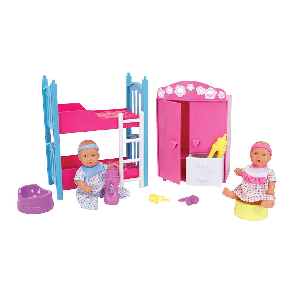 Купить Куклы, наборы для кукол, Кукольный набор Simba New baby born Детская комната (5036610), New Born Baby