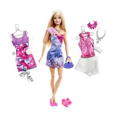 0ac0a136c2e Модельные куклы - Кукла с набором Гардероб Модницы Barbie в ассортименте  (X2268) (Х2268