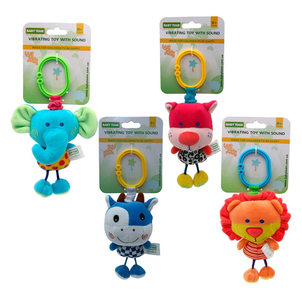 Купить Погремушки, подвески, прорезыватели, Игрушка-подвеска Baby Team вибрирующая со звуком в ассортименте (8540)