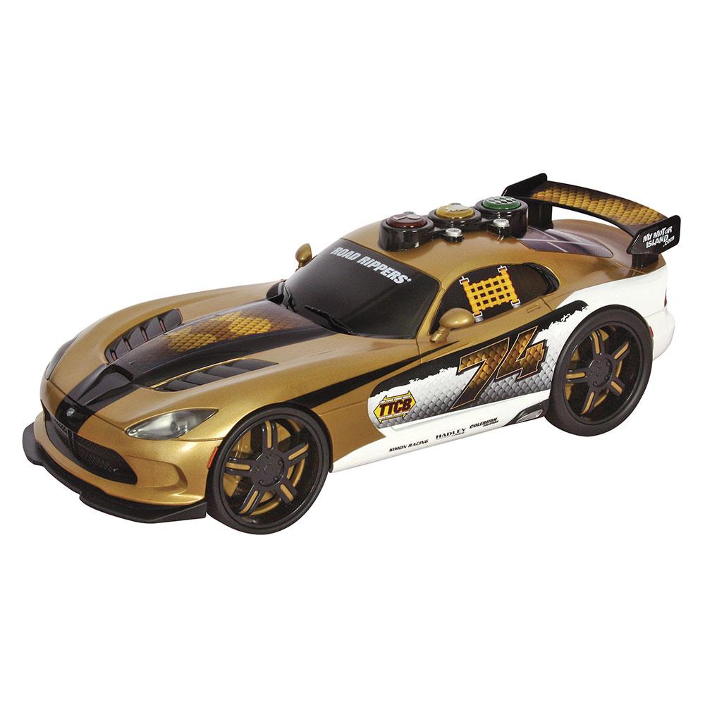 Купить Масштабные модели, Машинка Dodge Viper 2013 Веселые гонки со светом и звуком Toy State (33606), Road Rippers