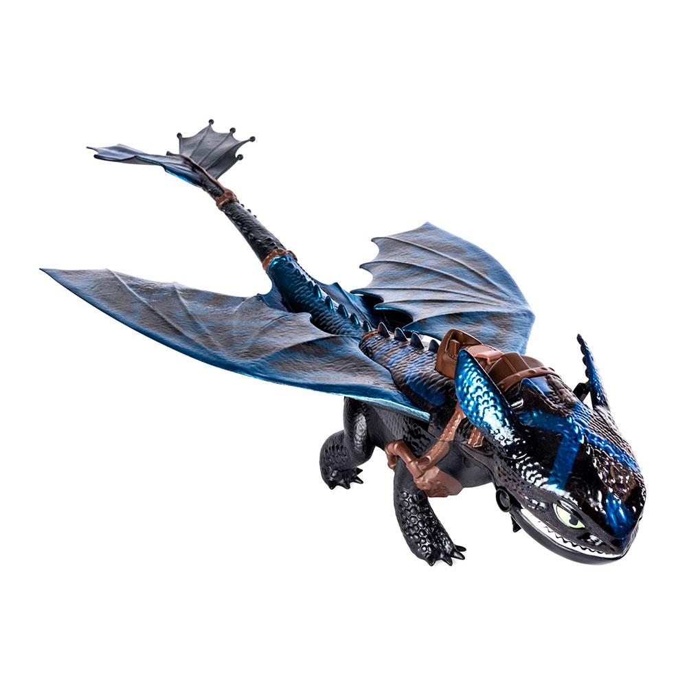 Купить Персонажи мультфильмов, игровые фигурки, Игровая фигурка Беззубик дышащий огнем Spin Master Dragons (SM66555)