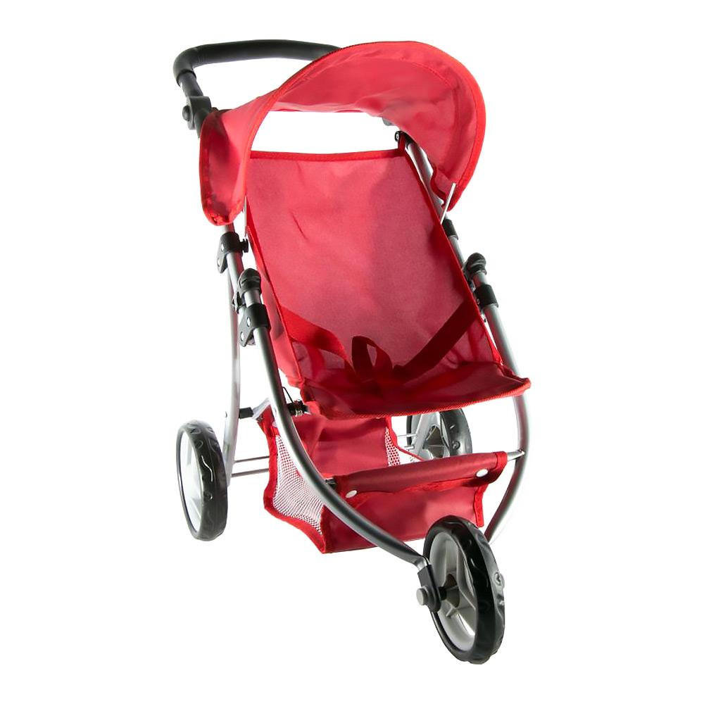 Трехколесная коляска для кукол красная (82914)