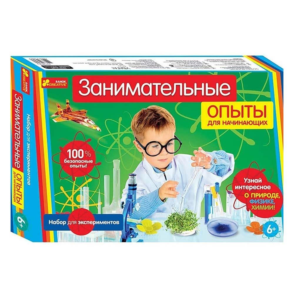 Купить Игровые наборы, Набор для экспериментов Занимательные опыты для начинающих (12114020Р), Ranok Creative