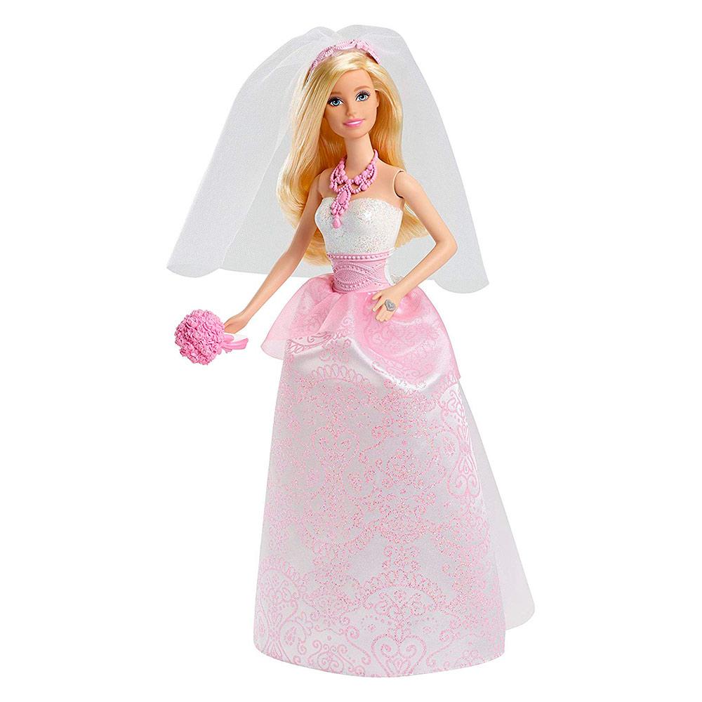 d6b650cc9aa Кукла Королевская невеста в розовом платье с узором Barbie (CFF37) - купить  в магазине детских игрушек  Будинок іграшок