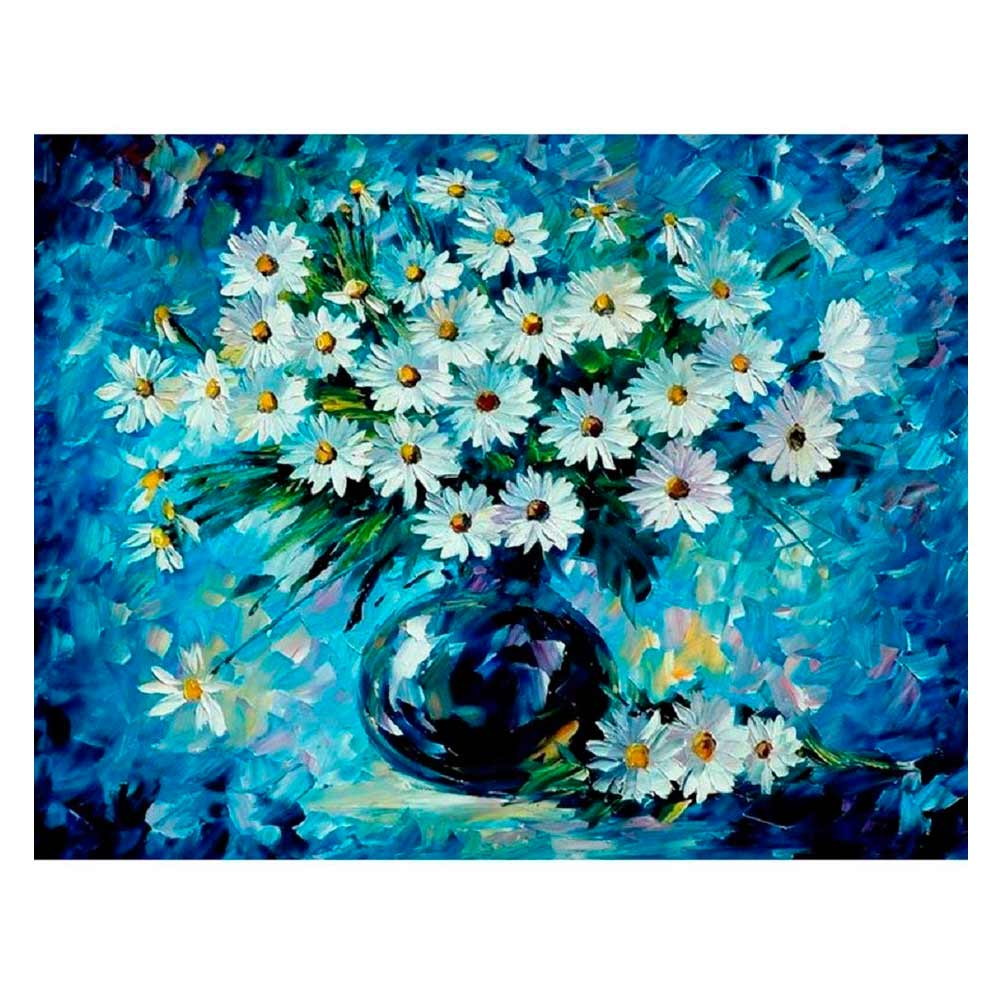 Купить Наборы для творчества и рукоделия, Картина по номерам Букет ромашек Идейка (КН1084)