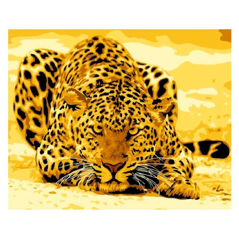 Купить Наборы для творчества и рукоделия, Картина по номерам Идейка Леопард притаился (КН305)