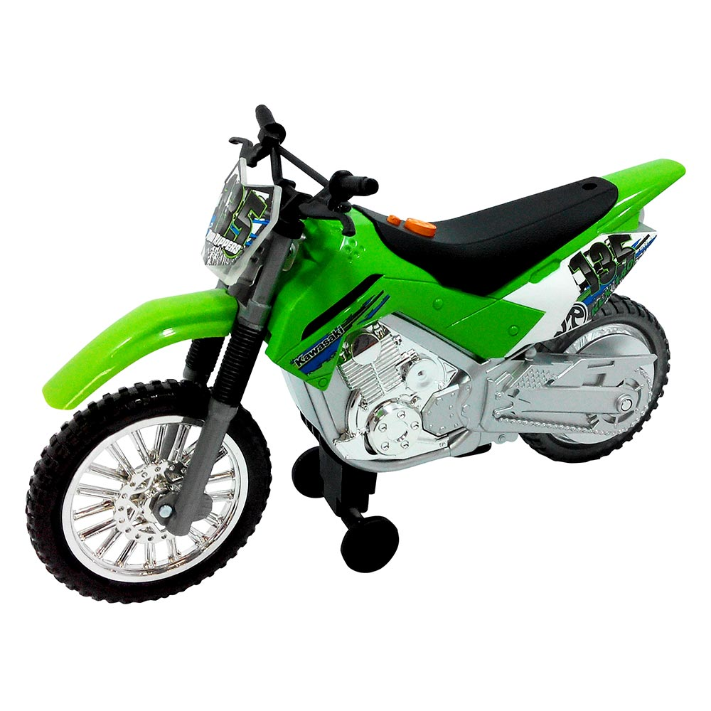 Купить Машинки, модели техники, Мотоцикл Kawasaki KLX 140 Moto-Cross Bike Road Rippers (33412)