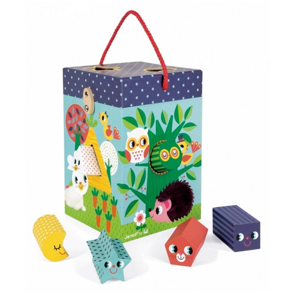 Купить Игрушки для самых маленьких, Игровой набор Сад сортер + кубики Janod (J02784)