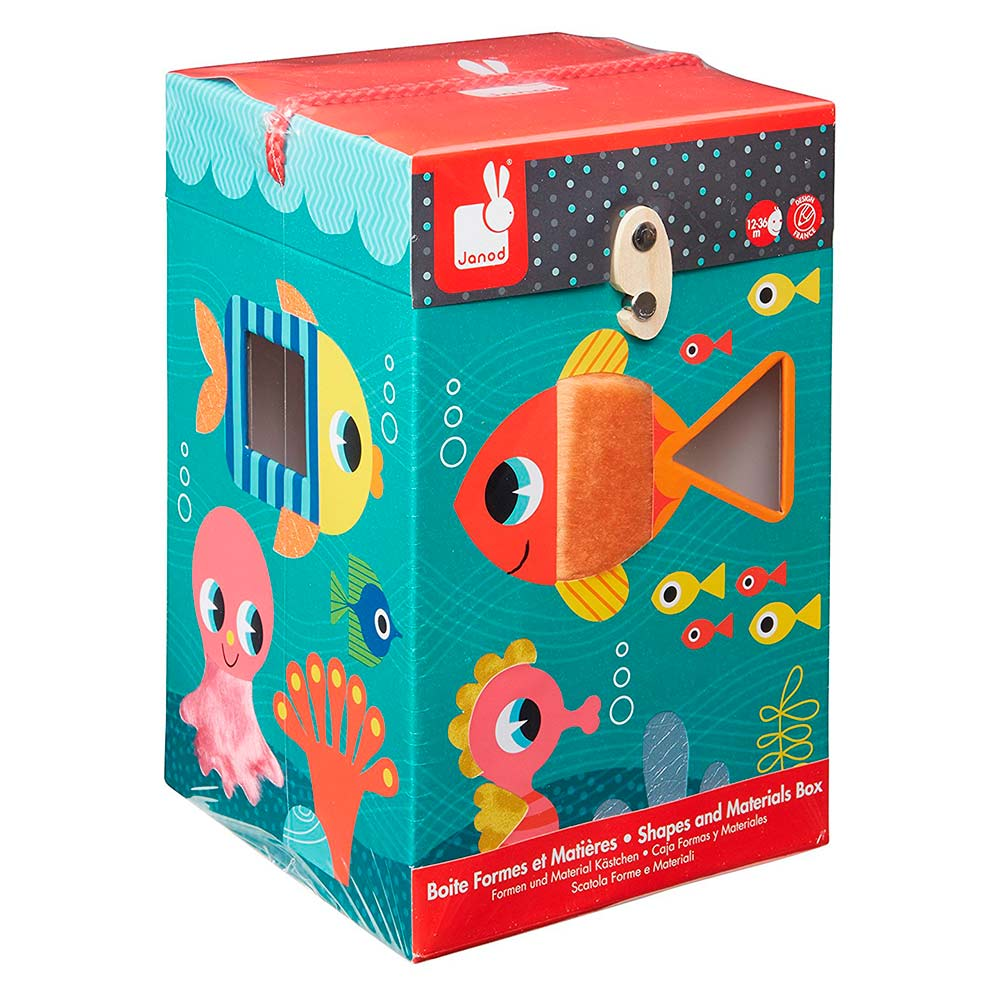 Купить Игрушки для самых маленьких, Игровой набор Океан сортер + кубики Janod (J02785)