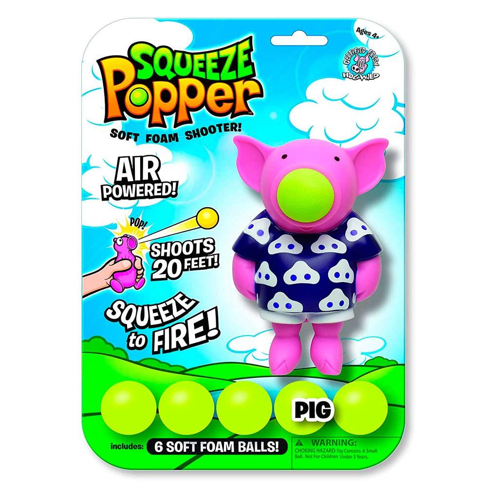 Купить Персонажи мультфильмов, игровые фигурки, Игровая фигурка Стреляющий зверек Свинтус Squeeze Popper (54300)