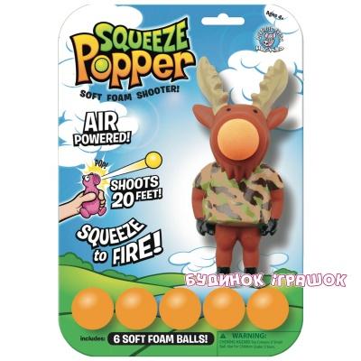 Купить Персонажи мультфильмов, игровые фигурки, Игровая фигурка Стреляющий зверек Лось Squeeze Popper (54350)