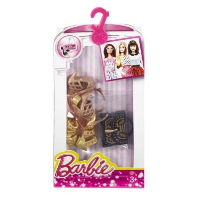 Игровой набор Стильные Аксессуары для куклыы Золотистое ожерелье с обувью и  сумочкой Barbie (CFX30   DHC56) - купить в магазине детских игрушек   Будинок ... 0c5a4e1f68b