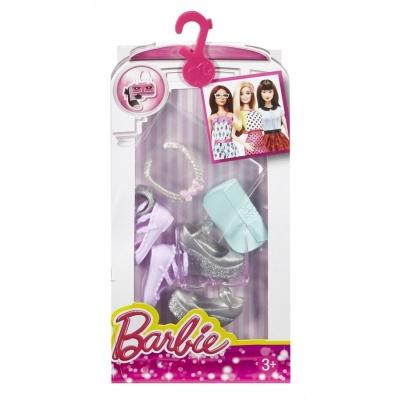 Игровой набор Стильные Аксессуары для куклыы Серебрянное ожерелье с обувью  и сумочкой Barbie (CFX30   DMF50) - купить в магазине детских игрушек   Будинок ... 52ee791e87e