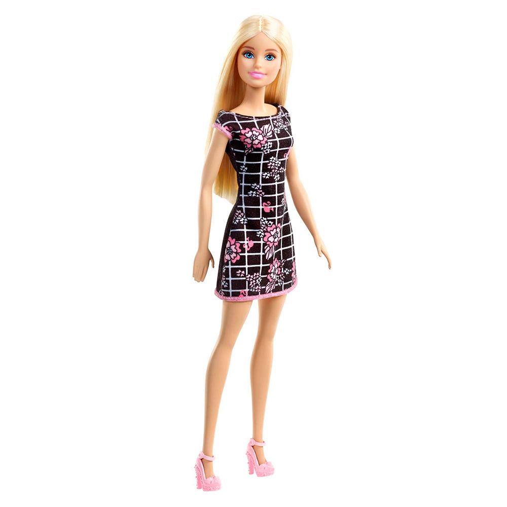 762b054d79a Модельные куклы - Кукла Черно-белое платье в клетку Barbie Супер стиль ( T7439