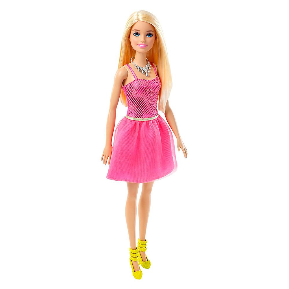 9747b75bb7c Модельные куклы - Кукла Блестящая В светло-розовом платье Barbie (T7580    DGX82)