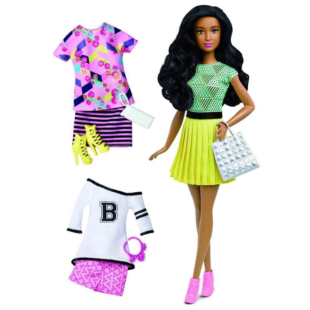 Кукла в желтом платье с набором одежды Barbie Модница (DTD96   DTD97) -  купить в магазине детских игрушек  Будинок іграшок  6336478018b