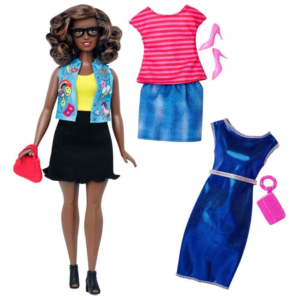 1684ed44a4d Кукла в черной юбке с очками Barbie Модница (DTD96   DTF02) - купить в  магазине детских игрушек  Будинок іграшок