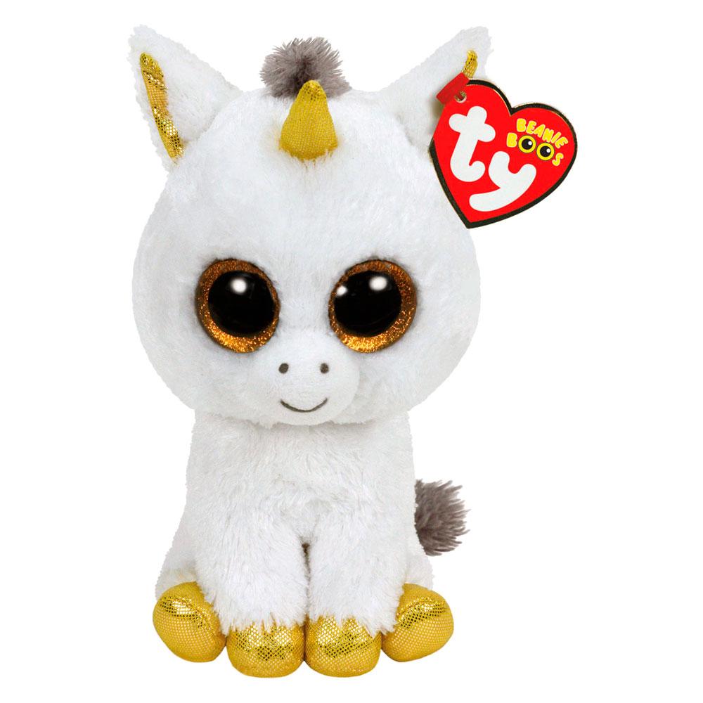 Мягкая игрушка TY Beanie Boo's Белый единорог Пегас 25 см (36825)