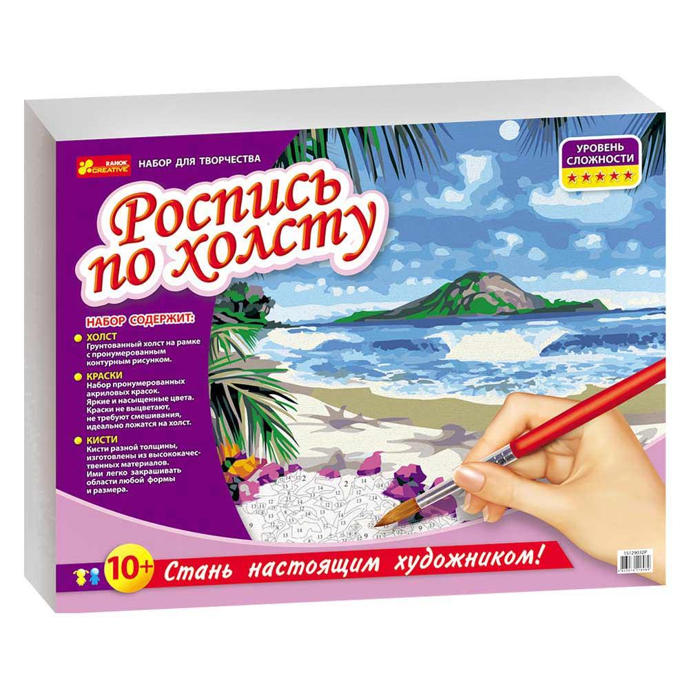 Купить Наборы для творчества и рукоделия, Раскраска по номерам на холсте Creative Тропический рай (15129032Р), Ranok Creative