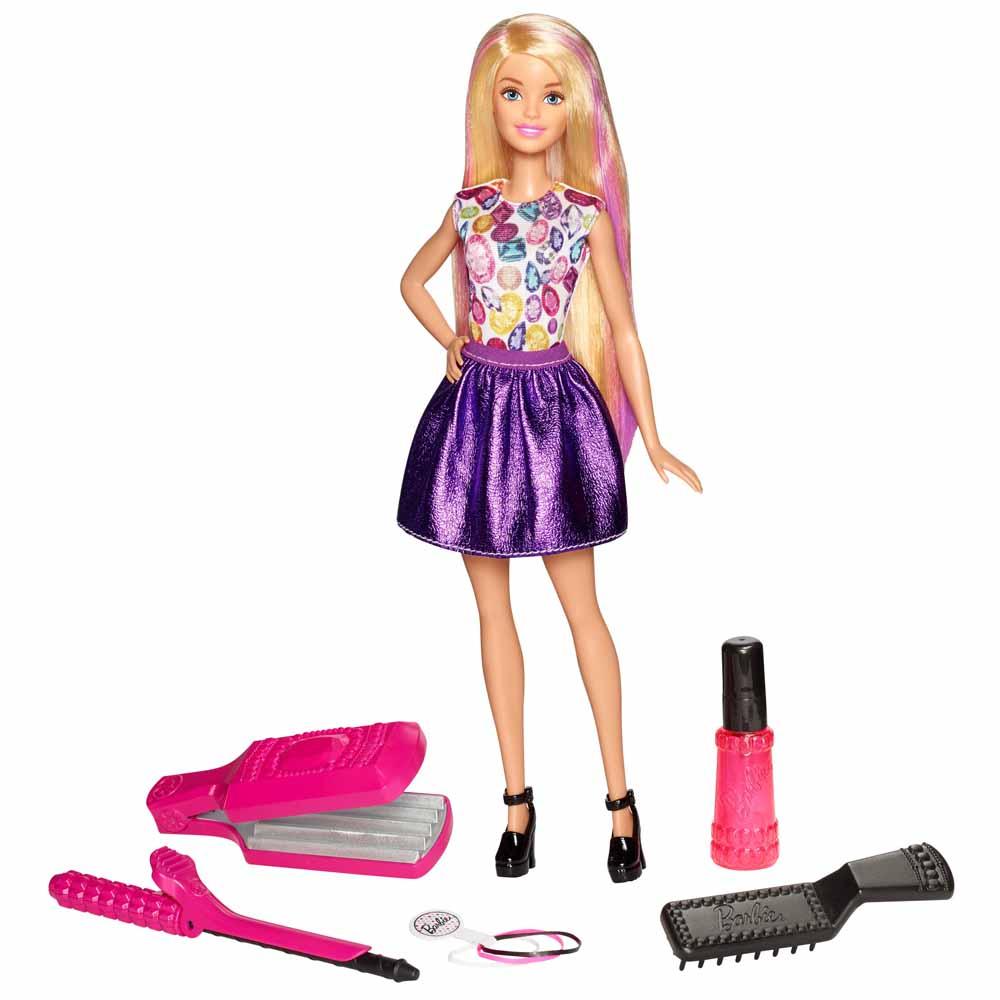 f9e7cd0848d Модельные куклы - Игровой набор с куклой Barbie Удивительные кудри (DWK49)