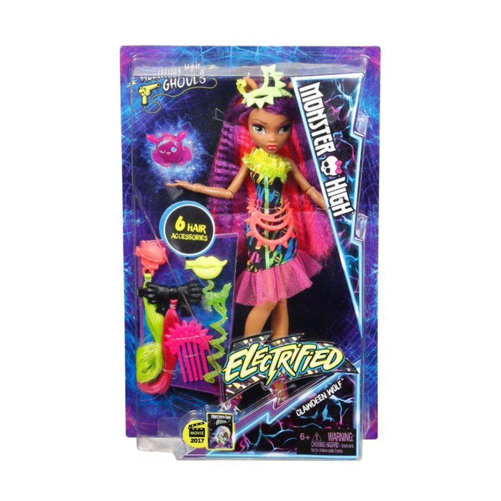 Модельні ляльки - Лялька Електричне перевтілення Monster High Клодін Вульф  (DVH69   DVH70) db6be5a091f4b