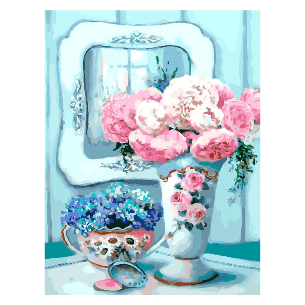 Купить Наборы для творчества и рукоделия, Картина по номерам Бирюзовый натюрморт Идейка (КН2038)