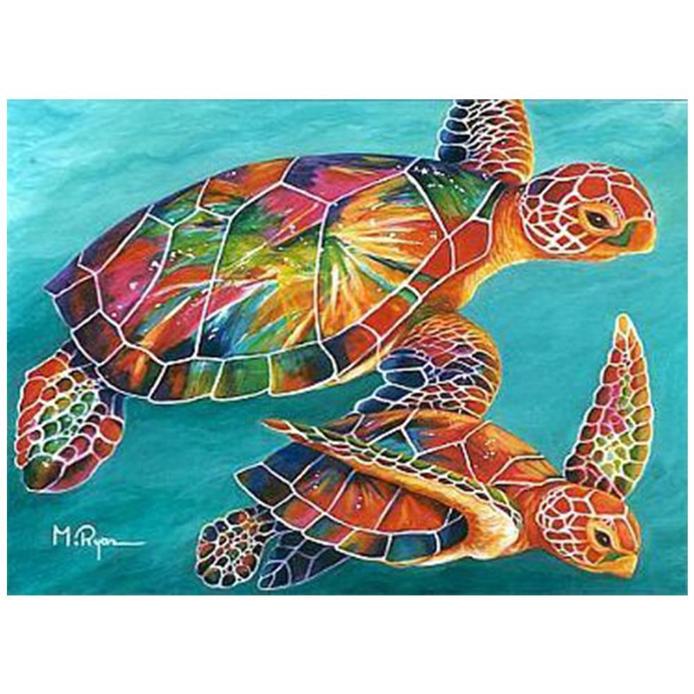 Купить Наборы для творчества и рукоделия, Картина по номерам Черепахи Идейка (КН2455)