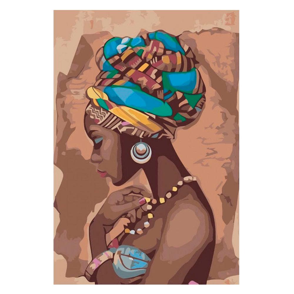 Купить Наборы для творчества и рукоделия, Картина по номерам Жемчужина Африки Идейка (КН2625)