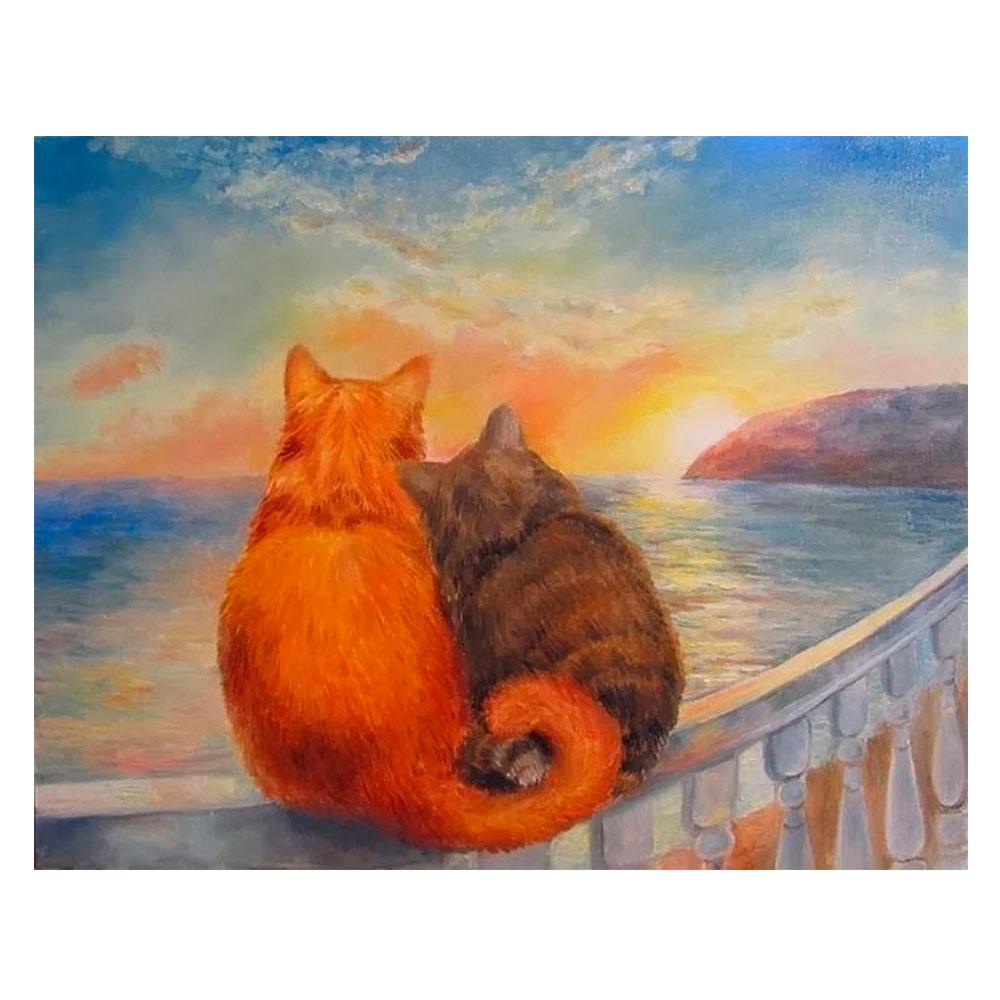 Купить Наборы для творчества и рукоделия, Картина по номерам Идейка Закат (КН2438)