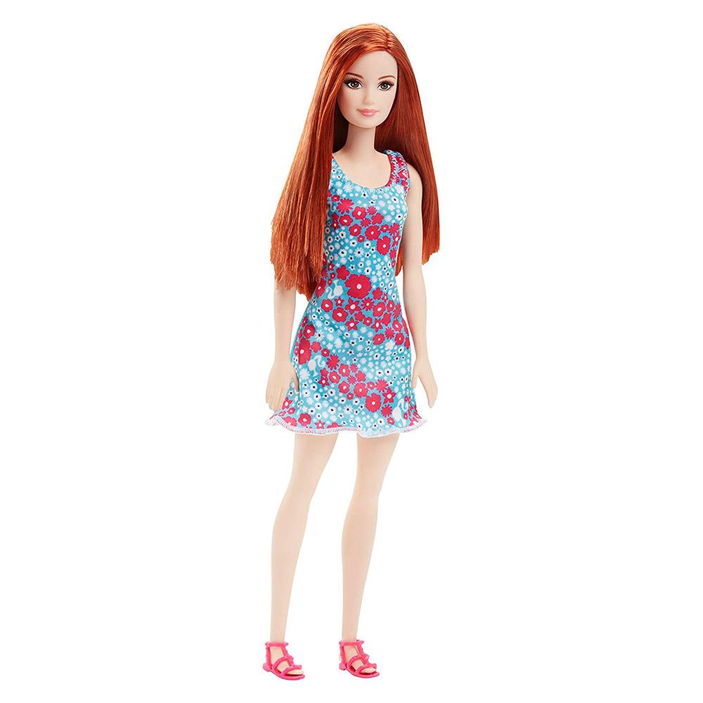 b897674a027d4f Модна лялька в синьому платті з червоними квітами Barbie Супер стиль (T7439  / DVX91) 【 Будинок іграшок 】 купити в Києві, Харкові, Одесі за низькою ціною