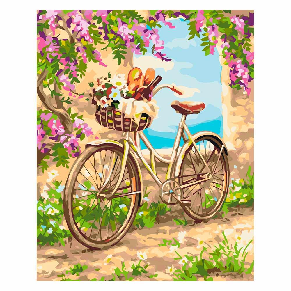 Купить Наборы для творчества и рукоделия, Картина по номерам Сельское утро Идейка Сельский пейзаж 40х50 см (КН2207)