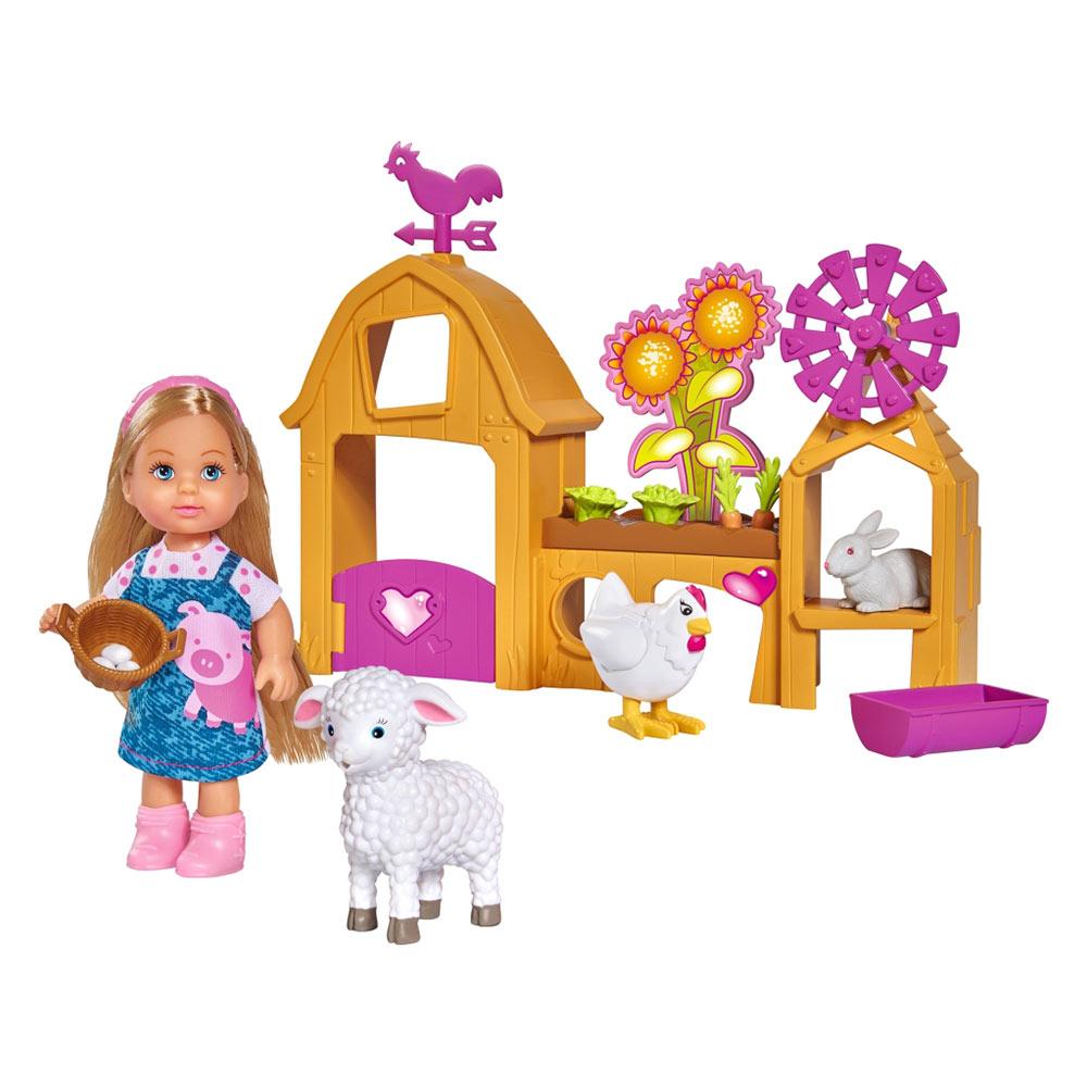 Купить Куклы, наборы для кукол, Кукольный набор Эви Счастливая ферма Steffi & Evi Love с аксессуарами (573 3075)