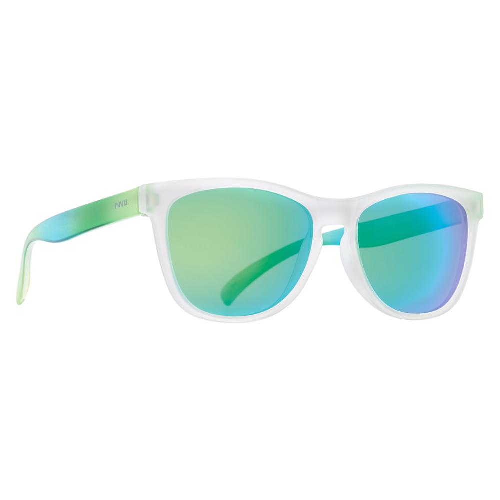 473fe6168d0e Солнцезащитные очки - Солнцезащитные очки для детей INVU зелено-белые  (K2420B)