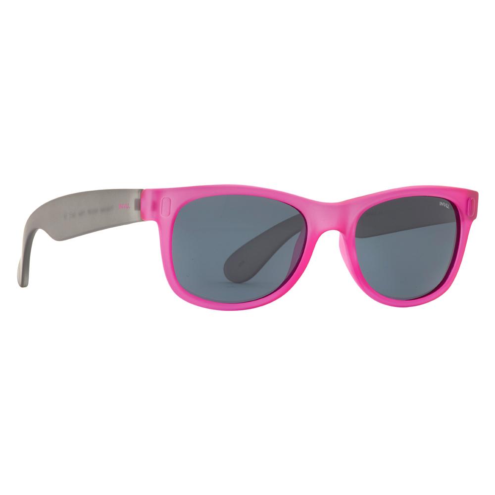 Солнцезащитные очки для детей INVU серо-малиновые (K2410P)