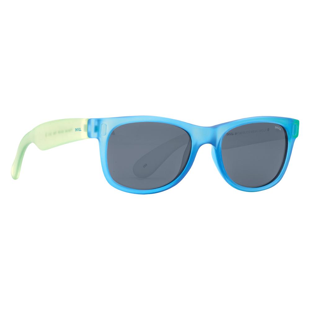 Солнцезащитные очки для детей INVU зелено-голубые (K2410R)