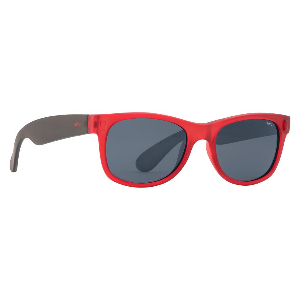 04a493751f63 Солнцезащитные очки - Солнцезащитные очки для детей INVU красно-черные  (K2410S)