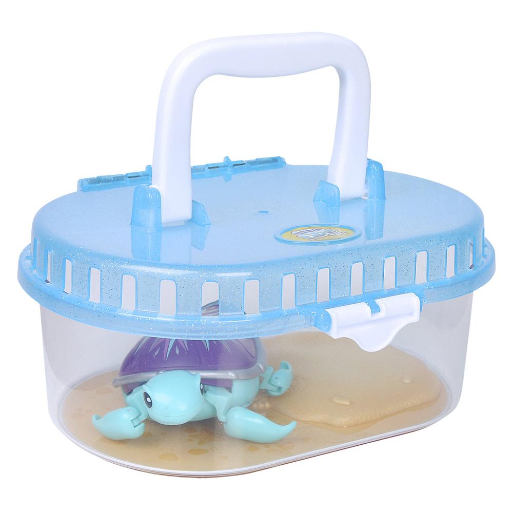 Купить Персонажи мультфильмов, игровые фигурки, Интерактивная игрушка Little Live Pets Черепашка с аквариумом 28182)
