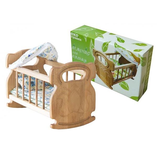 Меблі та будинки для ляльок - Ліжечко для ляльки з дерева ArInWOOD варіант 1  (03 1607f26271469