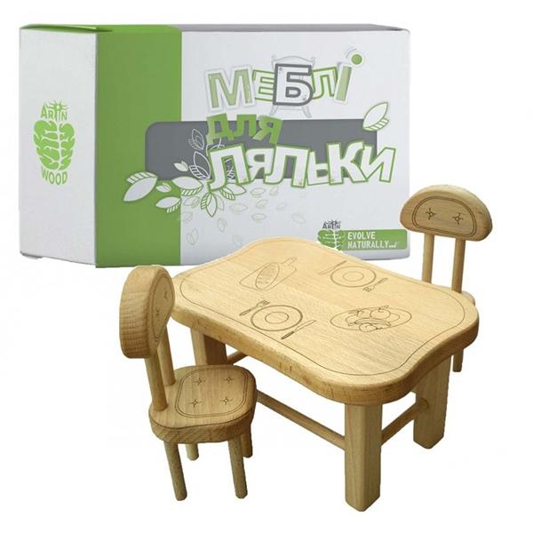 Аксесуари для сюжетно-рольових ігор - Меблі для ляльки з дерева ArInWOOD  варіант 1 ( 787aba47f3f16