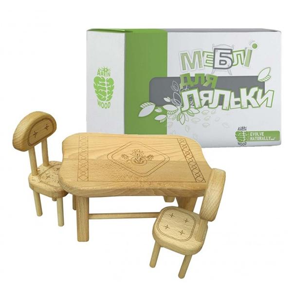 Аксесуари для сюжетно-рольових ігор - Меблі для ляльки з дерева ArInWOOD  варіант 2 ( 5f00e2673b2ff