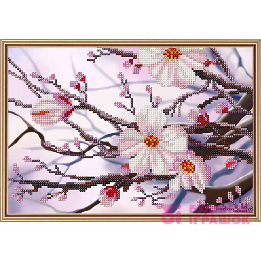 Набори для рукоділля - Набір для вишивання бісером Яблуневий цвіт Набори  Nova Sloboda (НД4088) aea294348b9c2